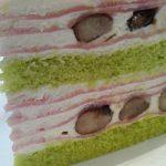 コージーコーナーの桜のケーキを食べたよ♪